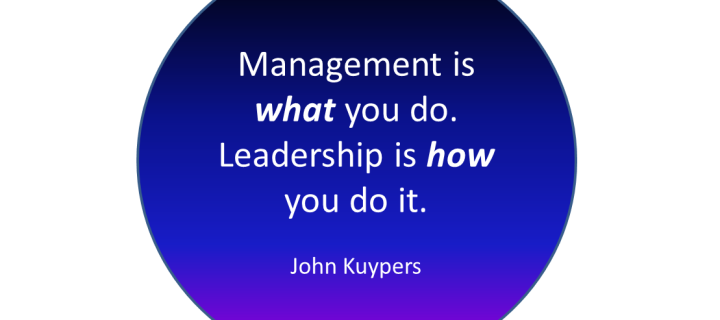 The difference between management and leadership